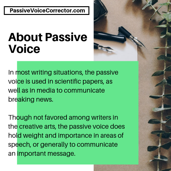 active vs. passive voice checker app
