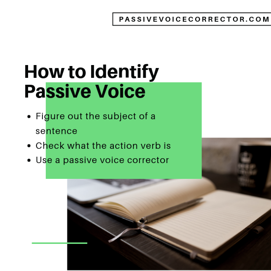 how to identify passive voice online